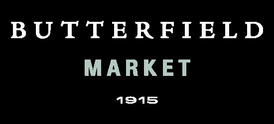 A theme logo of Butterfield Market